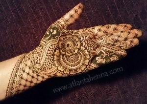 floral atlanta henna hand