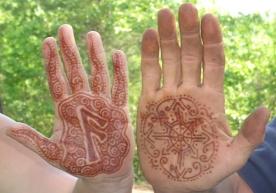 ansuz rune henna design