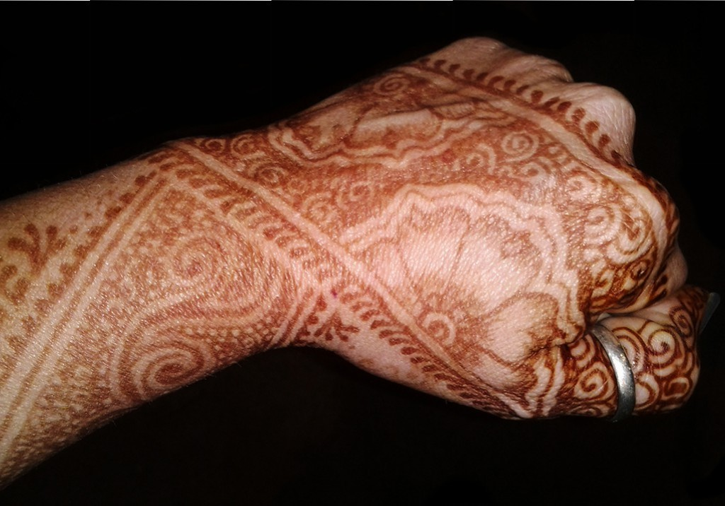 traditional henna hand design