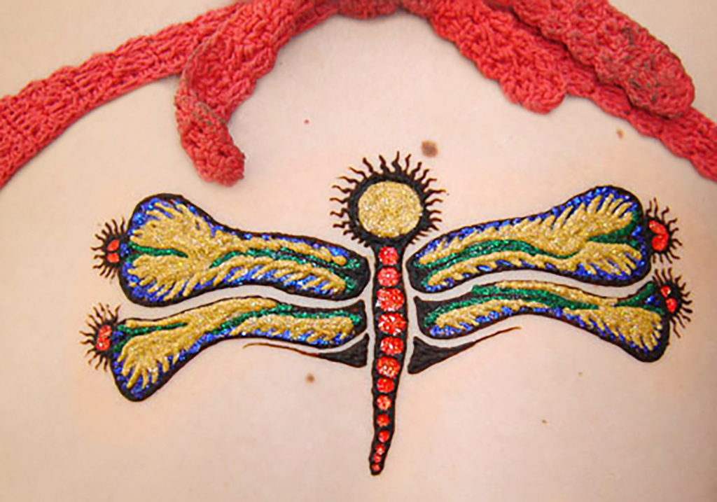 dragonfly henna design
