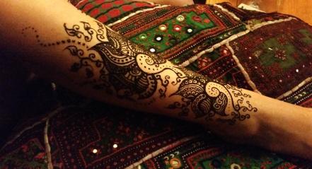 Floral Leg Henna Design