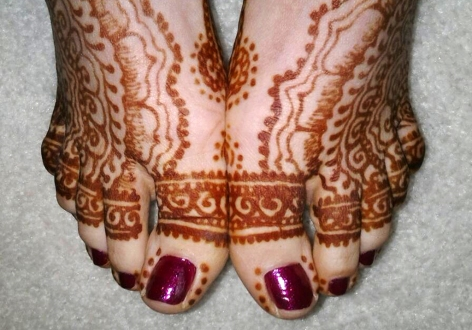 henna traditional foot design