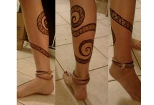 monkey tail leg henna