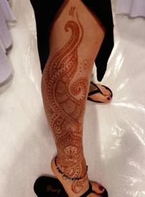 serpentine leg henna