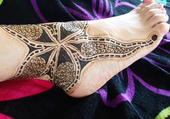 starfish foot henna