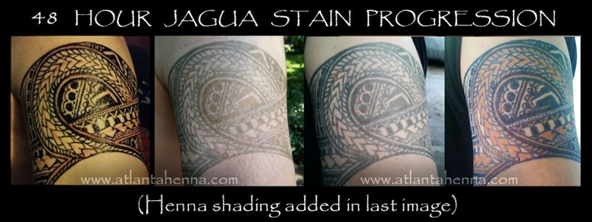 48 hour jagua stain progression