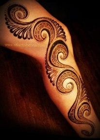 Henna Spiral Leg